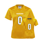 Ladies Gold Replica Football Jersey-Personalized