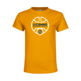 Youth Gold T Shirt-Warriors Basketball