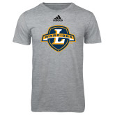 Adidas Sport Grey Logo T Shirt-L Warriors