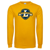 Gold Long Sleeve T Shirt-L Warriors