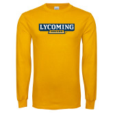 Gold Long Sleeve T Shirt-Lycoming Soccer