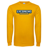 Gold Long Sleeve T Shirt-Lycoming Lacrosse