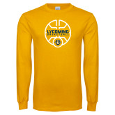 Gold Long Sleeve T Shirt-Warriors Basketball