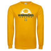 Gold Long Sleeve T Shirt-Warriors Soccer