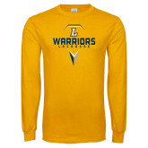 Gold Long Sleeve T Shirt-Warriors Lacrosse