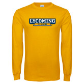 Gold Long Sleeve T Shirt-Lycoming Alumni