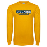 Gold Long Sleeve T Shirt-Lycoming Grandpa