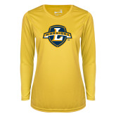 Ladies Syntrel Performance Gold Longsleeve Shirt-L Warriors
