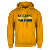 Gold Fleece Hoodie-Lycoming Warriors Striped
