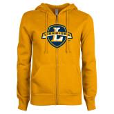 ENZA Ladies Gold Fleece Full Zip Hoodie-L Warriors