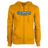 ENZA Ladies Gold Fleece Full Zip Hoodie-Lycoming Grandma