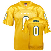 Replica Gold Adult Football Jersey-Personalized