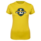 Ladies Syntrel Performance Gold Tee-L Warriors