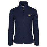 Columbia Ladies Full Zip Navy Fleece Jacket-L Warriors