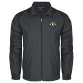 Full Zip Charcoal Wind Jacket-L Warriors