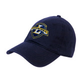 Navy Twill Unstructured Low Profile Hat-L Warriors
