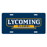 License Plate-Lycoming Alumni