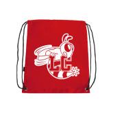 Nylon Red Drawstring Backpack-Hornet