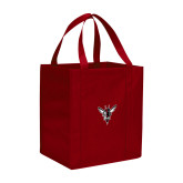 Non Woven Red Grocery Tote-Hornet Bevel L