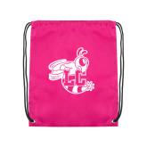 Nylon Pink Drawstring Backpack-Hornet