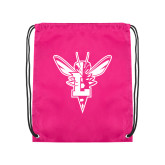 Pink Drawstring Backpack-Hornet Bevel L