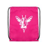 Pink Drawstring Backpack-Hornet Bevel L