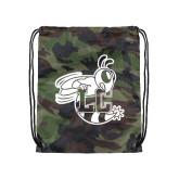 Nylon Camo Drawstring Backpack-Hornet