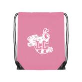 Nylon Light Pink Drawstring Backpack-Hornet