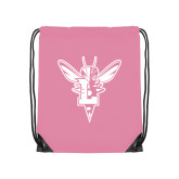 Light Pink Drawstring Backpack-Hornet Bevel L