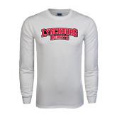 White Long Sleeve T Shirt-Lynchburg Hornets