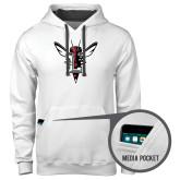 Contemporary Sofspun White Hoodie-Hornet Bevel L