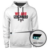 Contemporary Sofspun White Hoodie-We Are Lynchburg
