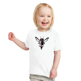 Toddler White T Shirt-Hornet Bevel L