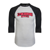 White/Black Raglan Baseball T-Shirt-Lynchburg Hornets