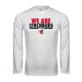 Syntrel Performance White Longsleeve Shirt-We Are Lynchburg