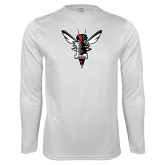 Syntrel Performance White Longsleeve Shirt-Hornet Bevel L