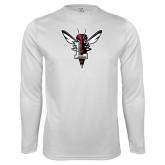 Syntrel Performance White Longsleeve Shirt-Hornet Bevel L