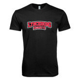 Next Level SoftStyle Black T Shirt-Lynchburg Hornets