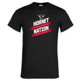 Black T Shirt-Hornet Nation Slanted Banners