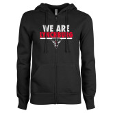 ENZA Ladies Black Fleece Full Zip Hoodie-We Are Lynchburg