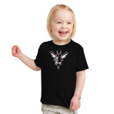 Toddler Black T Shirt-Hornet Bevel L