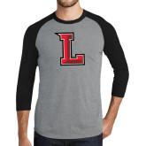 Grey/Black Tri Blend Baseball Raglan-Stinger L