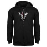 Black Fleece Full Zip Hoodie-Hornet Bevel L