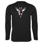 Syntrel Performance Black Longsleeve Shirt-Hornet Bevel L