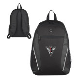 Atlas Black Computer Backpack-Hornet Bevel L