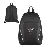 Atlas Black Computer Backpack-Hornet Bevel L