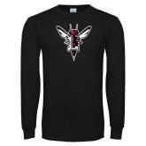 Black Long Sleeve T Shirt-Hornet Bevel L