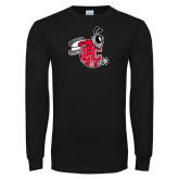 Black Long Sleeve T Shirt-Hornet Distressed