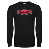 Black Long Sleeve T Shirt-Lynchburg Hornets