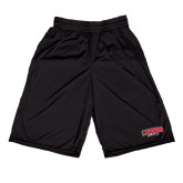 Performance Black 9 Inch Short w/Pockets-Lynchburg Hornets